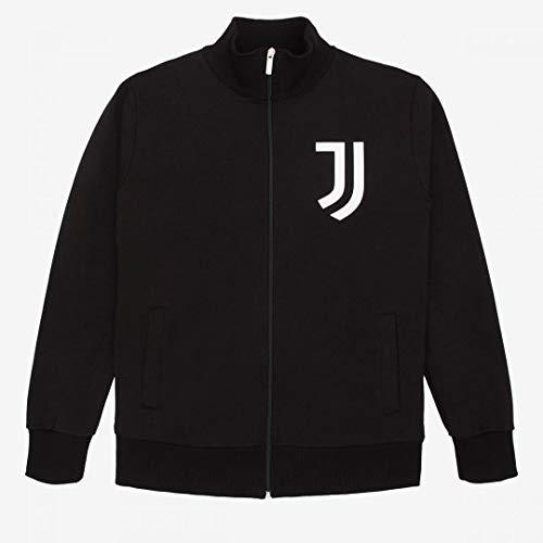 JUVE Juventus Felpa Nera Uomo - 100% Prodotto Ufficiale - 100% Originale - Logo a Scritta Bianchi Stampati - Scegli la Taglia (Taglia M)