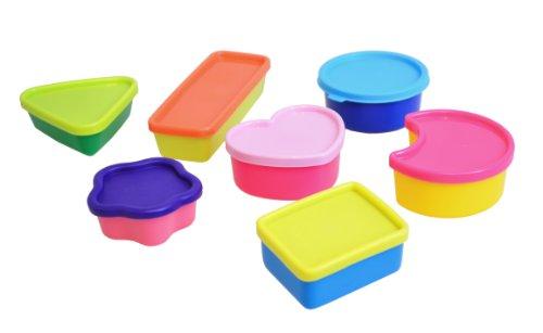 Plast team 50120201 Tiny Boxes Mini almuerzos Cajas Conjunto de 7