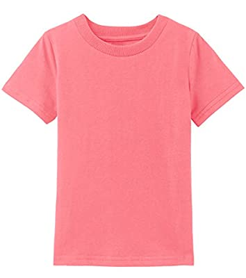 COSLAND Infant Baby Solid Color T-Shirt, Living Coral, 18 Months