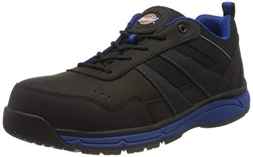 Dickies Herren Emerson Safety Water Resistant Workwear Toe Cap Trainers, Blau (Schwarz / Königsblau), 45