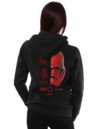 Star Wars Mujer The Rise of Skywalker Sith Trooper Helmet Icon Cremallera Sudadera con Capucha Negro XXXX-Large