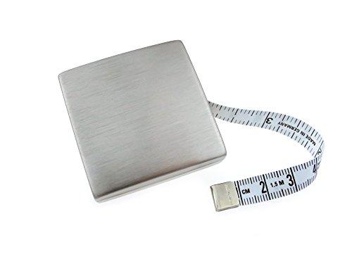 hoechstmass Balzer Maßband, Messing vernickelt, Silber, 5 cm