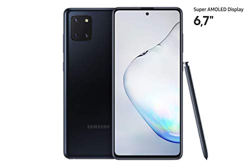 Samsung Galaxy Note10 Lite Smartphone Bundle  (17.02cm) 128 GB interner Speicher, 6 GB RAM, Dual SIM, Android, aura black)  Deutsche Version