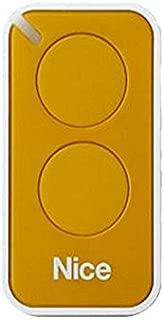 Nice Inti 2Y uzaktan kumanda, frekans 433.920MHz, cam göbeği, macenta, sarı