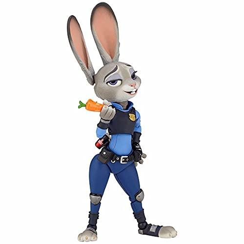 GKLHC Yamaguchi Zootopia Judy Oficial de policía Conejo Judy Hops PVC Anime Juego de Dibujos Animados Modelo de Personaje Estatua Juguete coleccionables Decoraciones Regalos