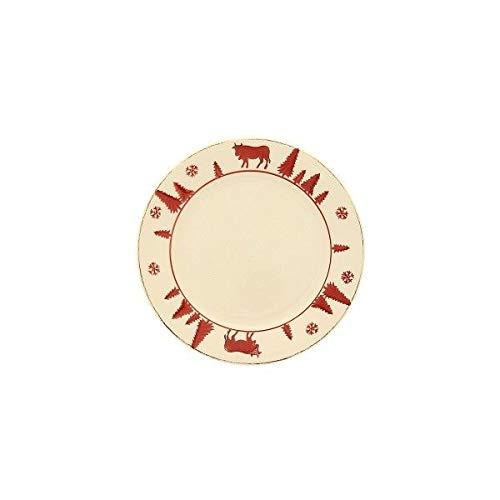 TABLE&COOK Assiette à dessert 'vache rouge' (lot de 6) - F361000328D0164