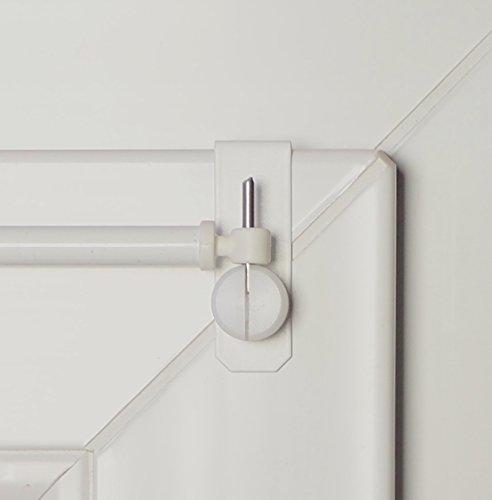 dekondo Tringle extensible Crativ - De 80 à 120 cm - Blanc - 1 paire de supports de serrage pour fenêtres de 15-20 mm (fixation sur le dessus ou sur le côté)