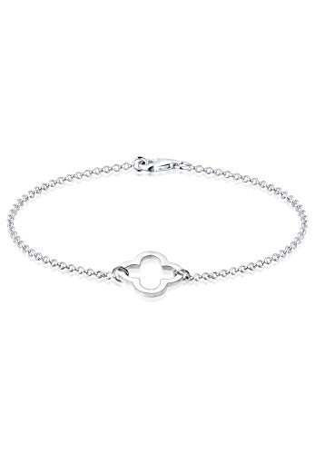 Elli Armband Damen Kleeblatt Cut-Out Symbol in 925 Sterling Silber