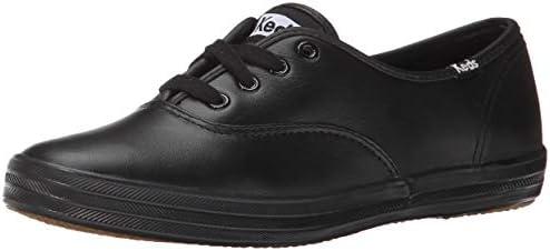 Keds Women s Champion Oxford Leather Fashion Sneaker Black 6 5 Medium US product image
