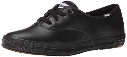 Keds Keds Women's Champion Original Leather Sneaker, Black Leather, 5 W US