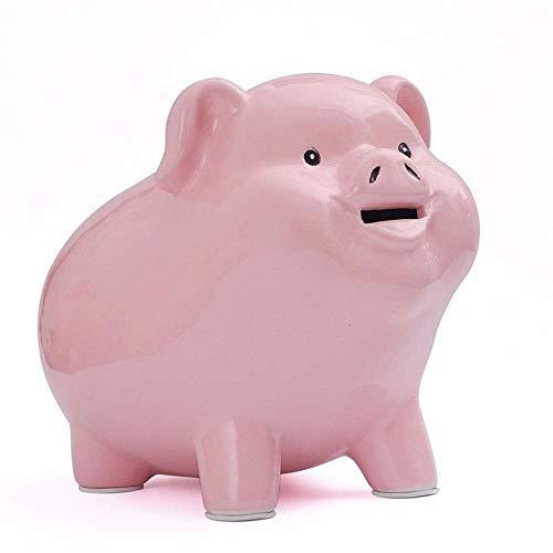 SGXBJ Mignon Tirelire Cochon Rose créatif en céramique incassable Grande capacité Tirelire Simple Mode Enfants Fille Tirelire Cochon Tirelire Mignon