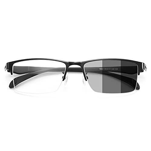 NWB Gafas de Lectura Progresivas Multifocal, Lentes de Color Inteligente Gafas con Bloqueo de Luz Azul, Lectores contra La Fatiga Visual/Sequedad/Deslumbramiento De La Computadora, 1.0, 2.0, 3