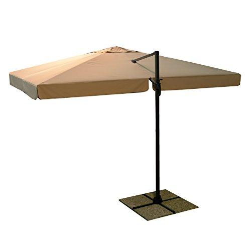 Vacchetti Giuseppe 7300260000 Parasol Michigan, Palo latérale, sans Base, 3 x 3 m, Sable, 248 x 38,5 x 14,5 cm