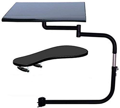 Ergonomic Laptop Stand, Keyboard/Mouse Stand Mount, Full Motion Chair Clamping Keyboard Support Laptop Riser Holder