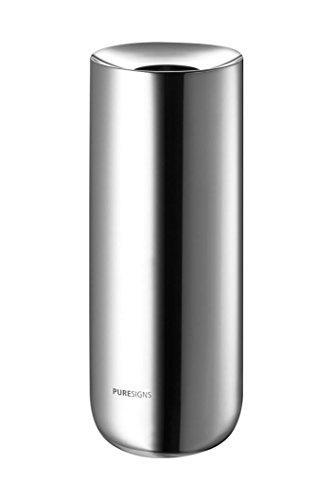 Puresigns BREEZE Vase 19,80cm Edelstahl Poliert Silber Kleine Vasen für Tischdeko