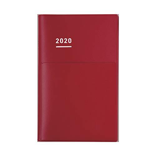 コクヨ ジブン手帳 Biz mini Spring 手帳 2020年 B6 スリム マンスリー&ウィークリー マットレッド ニ-JBM1R-204 2020年 4月始まり