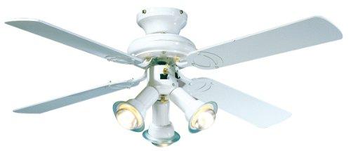 Farelek Maldives - Ventilatore da soffitto, diametro 107 cm, colore: Bianco
