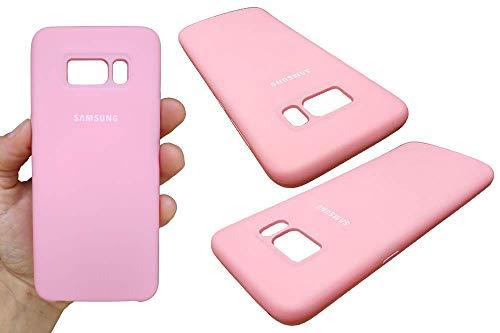 Capa Case Capinha Silicone Aveludada compativel com Samsung Galaxy S8 (Rosa Claro)