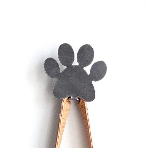 Highland Ridge Rustics Dog Leash Hooks for Wall & Purse Hooks for Wall (Paw Print)