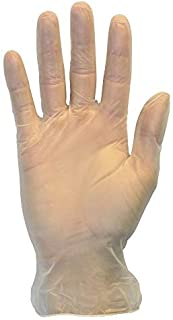 Disposable Vinyl Gloves-Powder Free, Clear, Latex Free and Allergy Free, Plastic, Work, Food Service, Cleaning, Wholesale Cheap, Size Medium (Case of 1000)