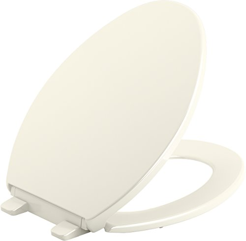 KOHLER K-20110-96 Brevia Toilet Seat, 18 x 14 inches, Biscuit
