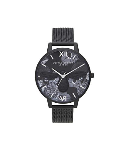 Olivia Burton Damen Analog Japanischer Quarz Uhr mit Edelstahl Armband OB16SHB07