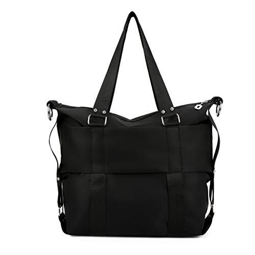 Lazzboy Messenger Bags Damenmode Einfache Wasserdichte Handtasche Einzelne Schulter(Schwarz)