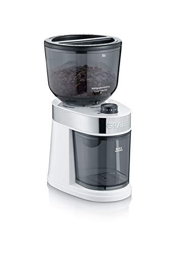 Graef CM201EU koffiemolen, 130, kunststof, metaal, wit