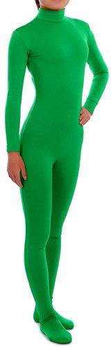 howriis Damen Spandex Unitard für Erwachsene und Kinder Gr. M, Mehrfarbig - Grün