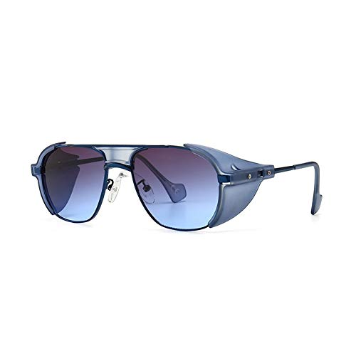Lanrui Gafas de Sol for Las Mujeres UV400 protección Resistente a los arañazos Punk, Retro, Estilo a Prueba de Viento de Arena Gafas de Sol adecuadas for Picnic Riding (Color : D)