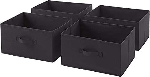 HAOGEGE - Cajones de recambio de tela para cajón, 4 unidades, color gris antracita