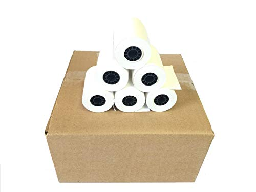 BAM POS, 2-1/4 x 50' 1-Ply Thermal Paper 50 Rolls for The Ingenico ICT 200/220/250 / Verifone VX 520 / Hypercom/Nurit -  BS070505