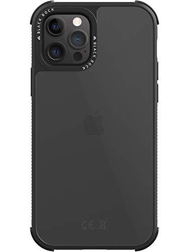 Black Rock - Hülle Robust Transparent Hülle passend für Apple iPhone 12/12 Pro | Handyhülle Transparent, Durchsichtig, Clear (Schwarz)