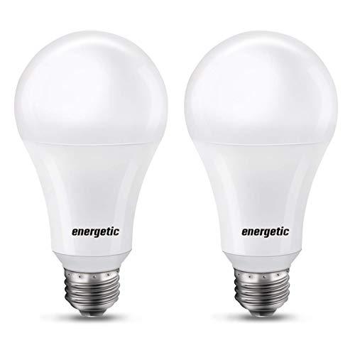 150 Watt Light Bulb, 2600LM Super Bright Light Bulb, Warm White 3000K, E26 Base, A21 High Lumens LED Bulb, UL Listed, 2 Pack