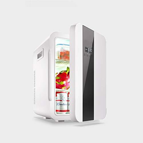AA- car refrigerator CZBXMini-Kühlschrank Kühler & Wärmer | 20L Kapazität | Kompakt, tragbar und leise | Wechselstrom- / Gleichstrom-Kompatibilität (Digitalanzeige mit Einer Tür, Schwarzweiß)