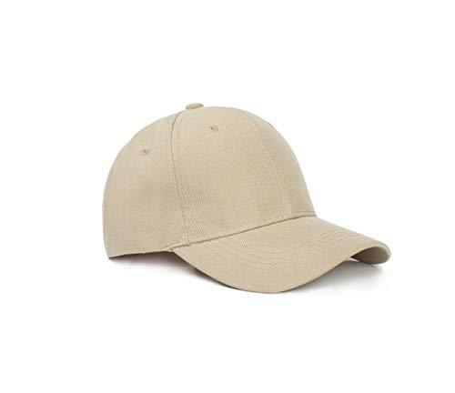 15 Colores Verano otoño Moda Soild Hombres Mujeres Gorra de béisbol Sombrero de adhesión Hiphop Ajustable Cool Sunhat Casquette Gorras Presente-Khaki-54CM-60CM