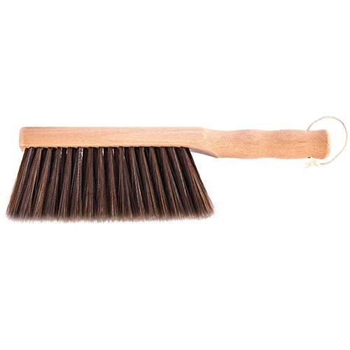 TSYFFF Madera Maciza Cama Cepillo de Pelo Suave, manija de Madera Natural de la Mano Cepillos Pequeña Mano del Cepillo del Polvo de Madera cerdas Suaves for la Limpieza de Interiores