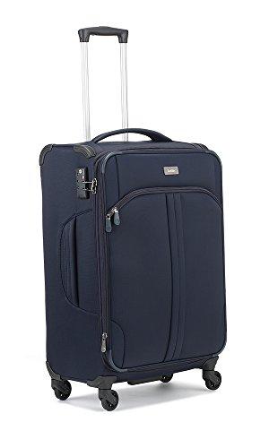 Antler Suitcase Aire, 4 Wheel Spinner, Medium, 68 cm, 68 L, Navy