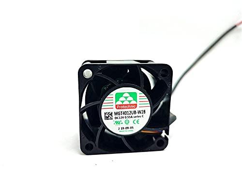 Zyvpee 40mm MGT4012UB-W28-C 12V 0.55A 4Wires 4cm PWM Ventilador de refrigeración 40x40x28mm