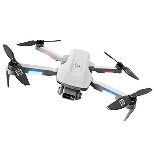 KUKU Dron Plegable, Quadcopter De Doble Cámara Ajustable 4K, Fotografía Aérea De Alta Definición 5G, Posicionamiento De Flujo Óptico GPS +, Retorno con Una Sola Tecla,Double Battery Version