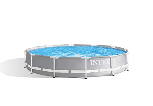 Intex Prism Rondo Ø 366 x 76 cm Frame Pool Set, Hellgrau