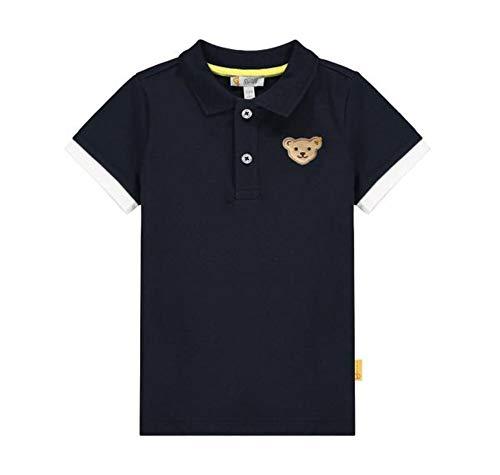 Steiff Jungen Poloshirt Polohemd, Navy, 110