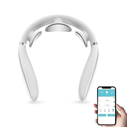 MIJIA G2 Smart Massagegerät L-förmiges Design Tragbare Bluetooth-Fernbedienung Deep Tissue Pulse Hot Compress Schnurloses elektrisches Nackenmassagegerät