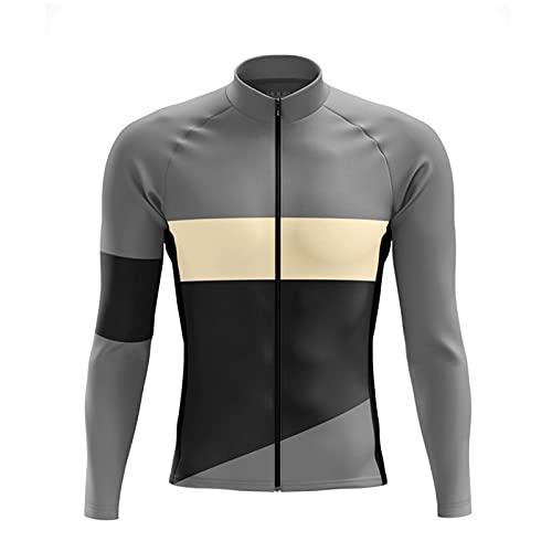 Maglia Ciclismo Manica Lunga Abbigliamento, InvernoTermico Vello Giacca Maglia Maglietta, Sportivo per Bicicletta,Mountain Ciclismo Jerseys (B,4XL)