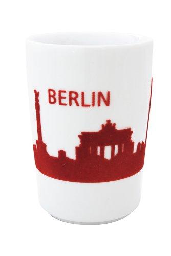 Kahla - Porcelaine pour les Sens 394605A26033C Touch Five Senses Skyline Berlin Grand Gobelet à Café Rouge 8 x 11,5 cm