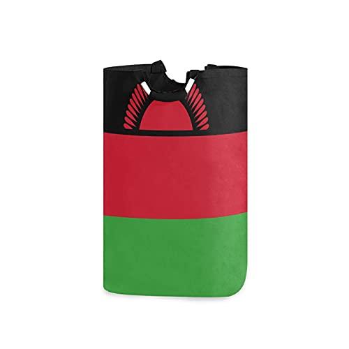 Großer Wäschekorb mit Malawi-Flaggen-Motiv, wasserdicht, faltbar, Segeltuch, mit Handgriffen für Aufbewahrungskorb, Kinderzimmer, Zuhause, Kinderzimmer, Babykorb