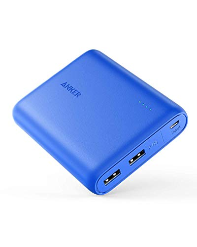 Anker PowerCore 13000 Portable Charger - Compact 13000mAh 2-Port Ultra Portable Phone Charger Power Bank with PowerIQ and VoltageBoost Technology for iPhone, iPad, Samsung Galaxy (Blue) (Renewed)