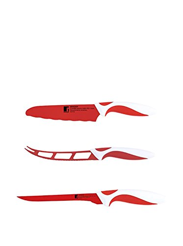 Bergner set couteau 3 unités. Red & White
