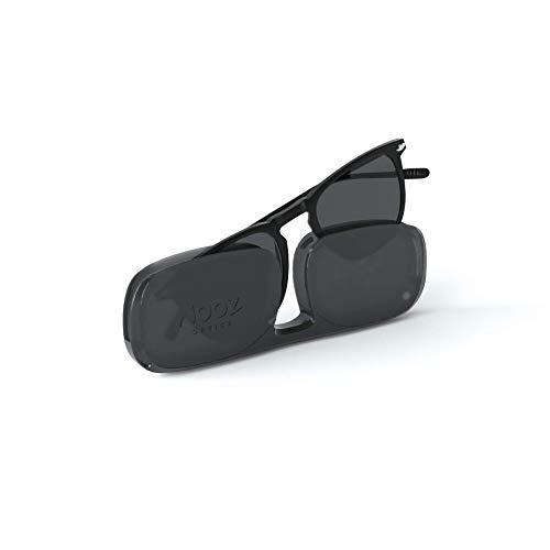NOOZ Occhiali da sole polarizzati per uomo e donna - Protezione di categoria 3 - Colore nero - con custodia compatta - Collezione DINO