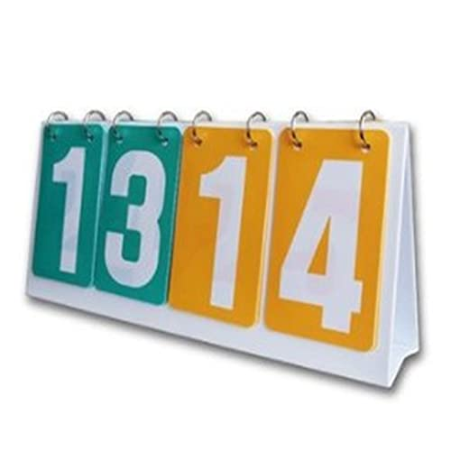 Piega Punteggio Flipper Scoreboard Counting Edition Scoreboard Scoreboard Scoreboard Biliardo segnapunti Pallacanestro Four Game Fatturato Adatto Per Lo Stadio ( Colore : White , Size : 35.5x16cm )